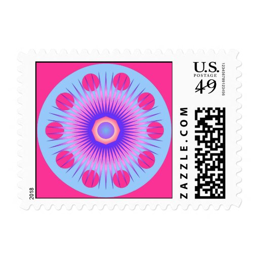 Red Spots Postage Stamp