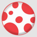 Red Spots Sticker sticker