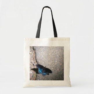 Red Spotted Admiral Butterfly Budget Tote Bag