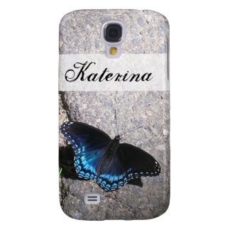 Red Spotted Admiral Butterfly Galaxy S4 Cover