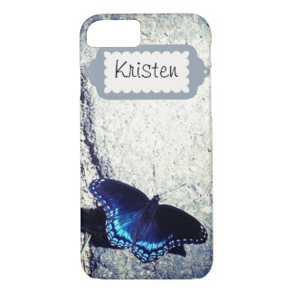 Red Spotted Admiral Butterfly iPhone 7 Case