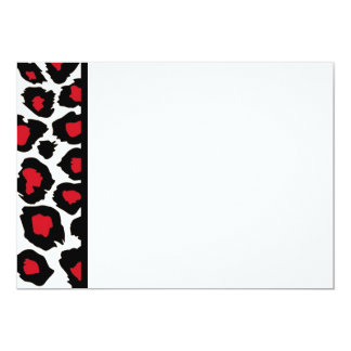 Red Spotted Leopard Panel Invitation