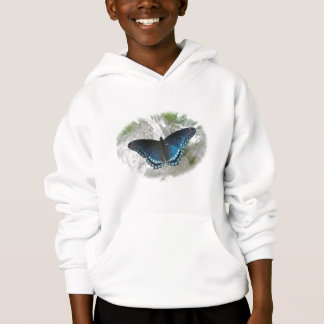 Red Spotted Purple Butterfly Hoodie