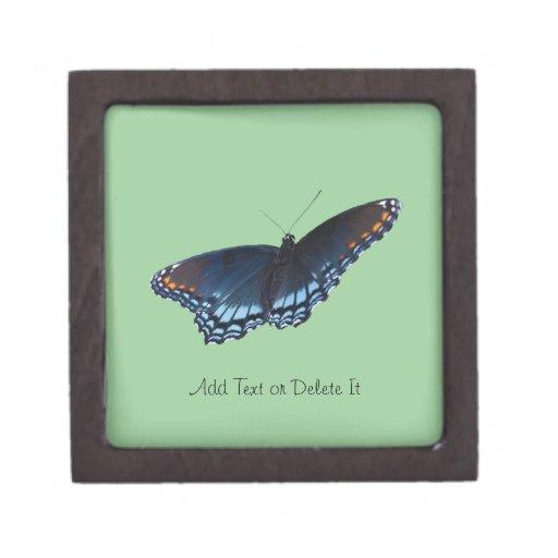 Red-spotted Purple Butterfly Premium Keepsake Box
