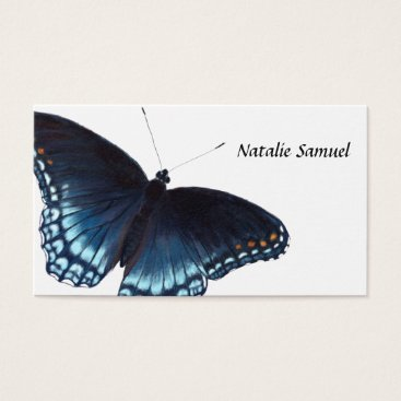 Professional Business Red-Spotted Purple Butterfly Realistic Painting Business Card