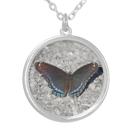 Red-spotted Purple Round Pendant Necklace