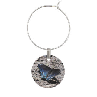 Red-spotted Purple Wine Glass Charm