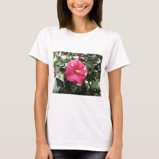 Red spotted white flower of Camellia Marmorata T-Shirt