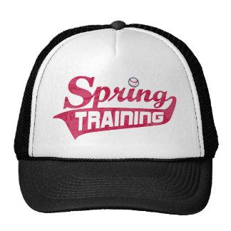 Red Spring Training Shirt Trucker Hat
