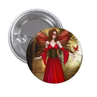 Red Springtime Fairy Button