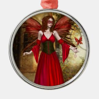 Red Springtime Fairy Ornament