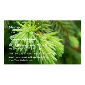 Red Spruce Sprouts Tree Business Card