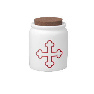 red square apostles cross or budded cross candy dish