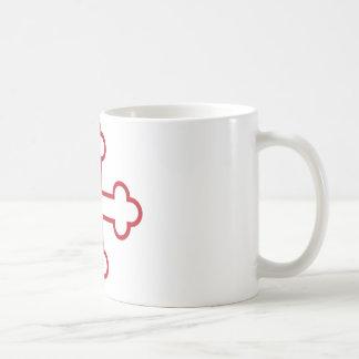 red square apostles cross or budded cross coffee mug