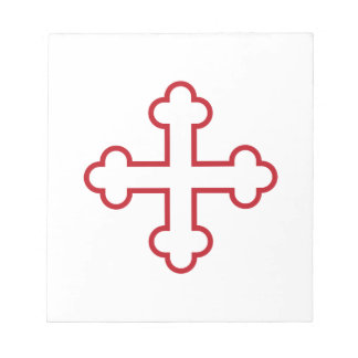 red square apostles cross or budded cross memo notepads