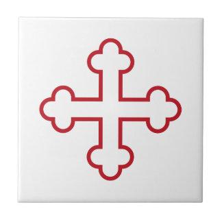 red square apostles cross or budded cross ceramic tiles
