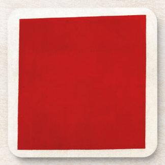 Red square by Kazimir Malevich Coaster