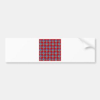 Red Square & Compass Mason Bumper Sticker