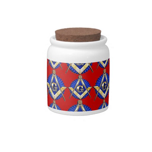 Red Square & Compass Mason Candy Jars