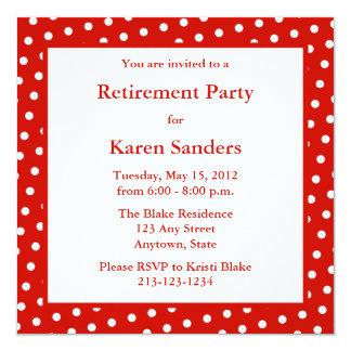 Red Square Formal Party or Event Invitation Personalized Invite