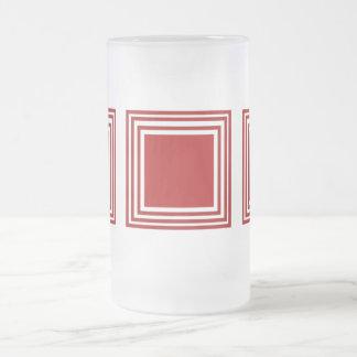 RED SQUARE GLASS MUG