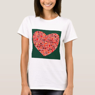 Red Square Heart T-Shirt