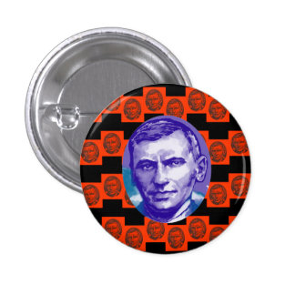 Red Square John Maclean Portrait Pinback Button