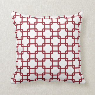 Red Square Link Throw Pillows