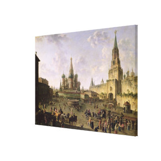 Red Square, Moscow, 1801 Canvas Print