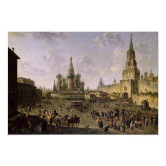 Red Square, Moscow, 1801 Poster