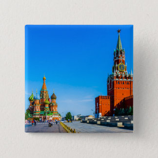 Red Square of Moscow Button