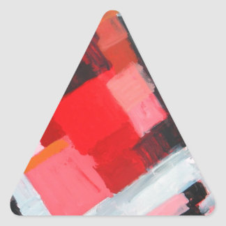 Red Square Residential District( expressionism) Triangle Sticker