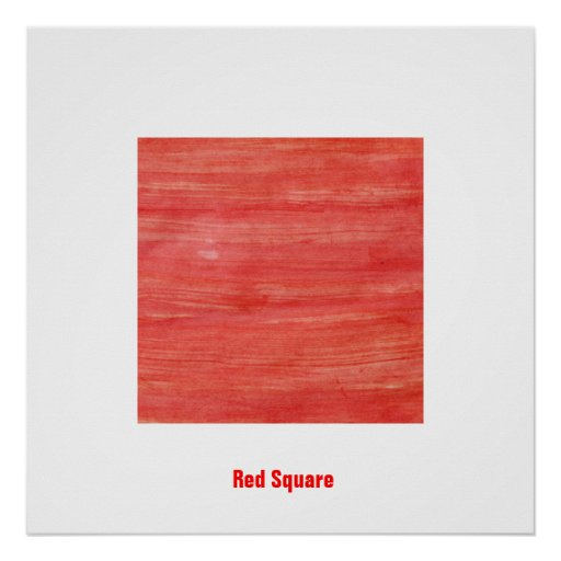Red Square - suprematism abstraction Poster