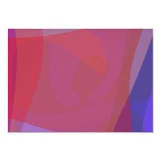 Red Square Time Warp 5x7 Paper Invitation Card