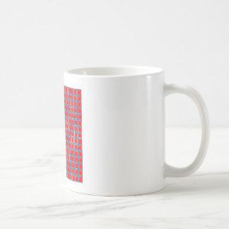 Red squares classic white coffee mug