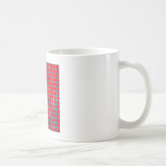 Red squares coffee mug