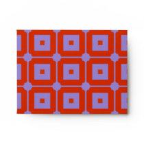 Red Squares Envelope