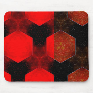 Red Squares MousePad - Abstract Design