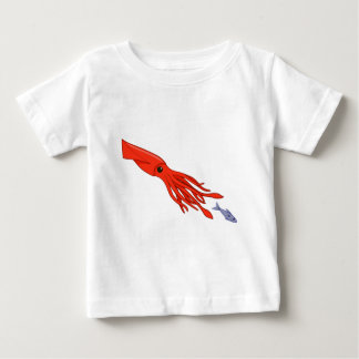 Red Squid Chase Baby T-Shirt