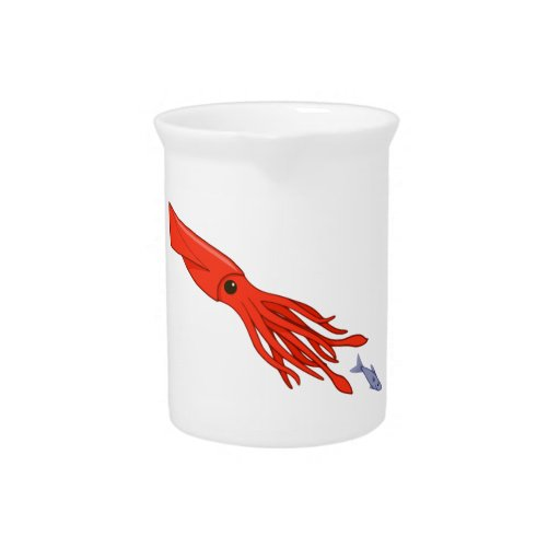 Red Squid Chase Pitcher