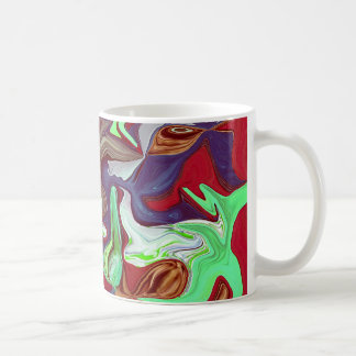 Red Squiggles Coffee Cup