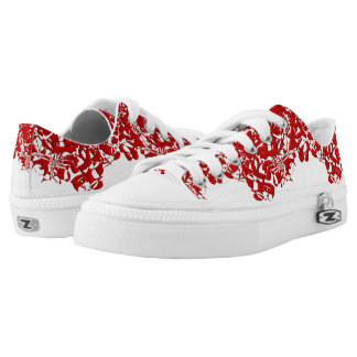 Red Squiggles Low-Top Sneakers