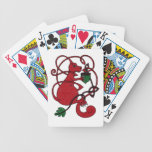 Red Squirrel Bicycle Playing Cards