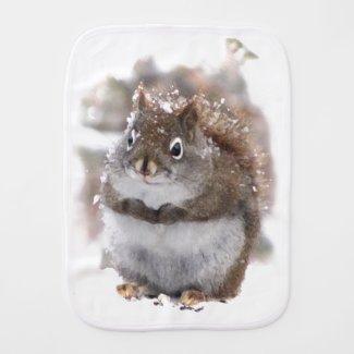 Red Squirrel Burp Cloth