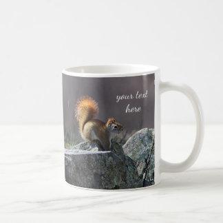 Red squirrel coffee mug