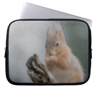 red squirrel computer sleeve