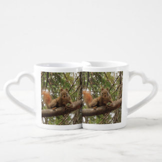 Red Squirrel Couples' Coffee Mug Set