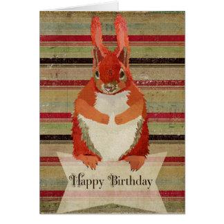 Red Squirrel Happy Birthday  Card