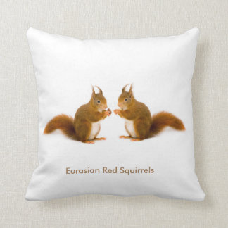 Red squirrel image for Throw Cushion
