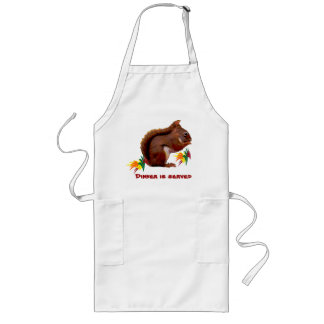 Red Squirrel in Autumn Long Apron